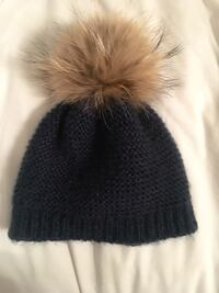Rudsak Winter Hat with Fur pompom - dark blue Montréal, H9H 2W2