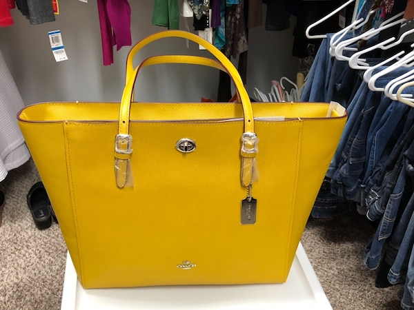 Yellow Coach Tote Bag New With Tags Never Used