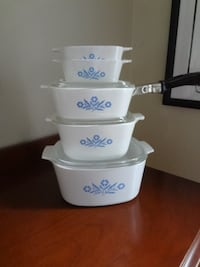 Vintage Corning Ware Blue Cornflower Set 9 pc set  Vaughan