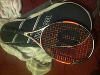 red and black Wilson tennis racket Oxford