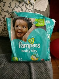 Size 3 pampers baby dry 14 diapers Toronto, M9W 7J5