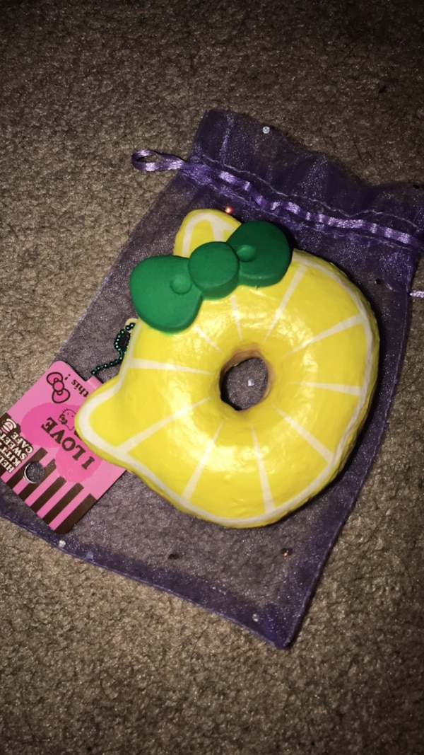lemon hello kitty squishy (got for $20 selling for 10!!!)
