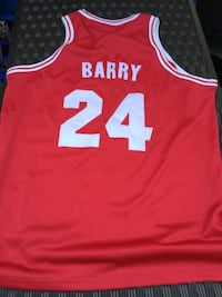 red and white barry 24 basketball jersey