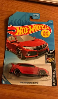 Hot wheels civic type r red
