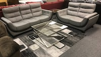 100% leather modern sofa and loveseat Livingroom set also available  Jacksonville, 32246