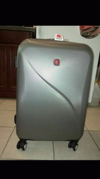 BRAND NEW- Gray Swiss suit case Chicago