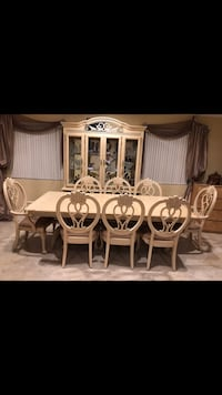 Formal Cream Wood Dining and China Set Glendale, 91205