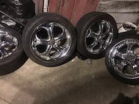 18 inch rims and bran new tires 5 lug 2343 mi