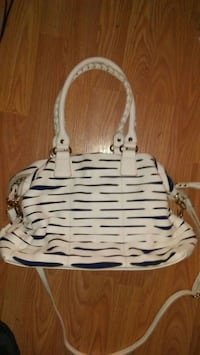 white and black leather tote bag Calgary, T3C 0W2