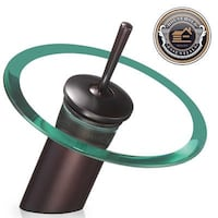 OIL RUBBED BRONZE & GLASS WATERFALL FAUCET  Baltimore, 21206