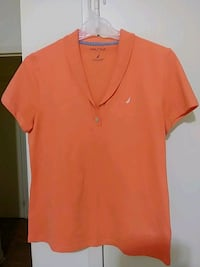 orange v-neck shirt Toronto, M3C 1B5