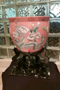 Fish bowl vase and stand antique  Oklahoma City, 73120