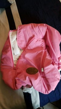 pink and white zip-up  cozy  infant carrier cover Albuquerque, 87121