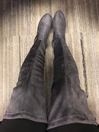 Suede thigh high boots Vaughan