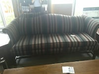white and brown stripe padded sofa Florence, 29505