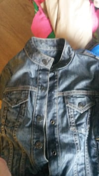 Snap-up denim jacket null
