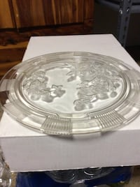 """JUST REDUCED MORE rose cake plate 11 1/2"""" round  Rockville"""