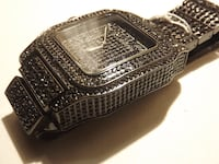Black Iced Out Watch Brand New Reston