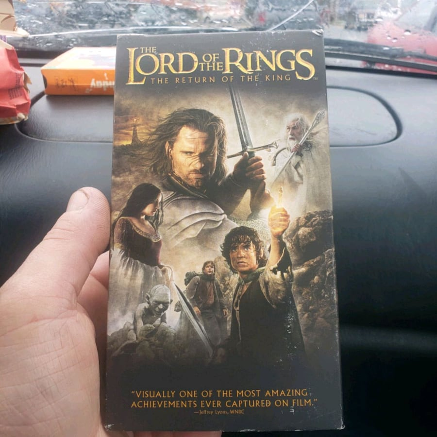 Lord of the rings vhs