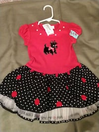 toddler's red and white polka dot dress St. Louis, 63116