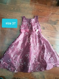 Girls party dress size 3T price is firm  Brampton, L6W 1V2