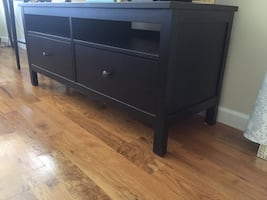 Tv unit with 2 drawers. Black