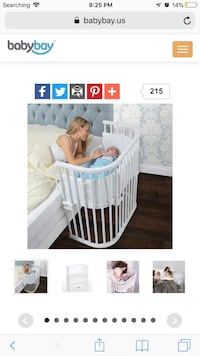 Babybay Bedside Sleeper - Pure White Finish Las Vegas, 89104