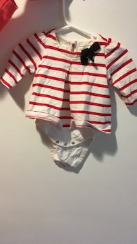 toddler's white and red stripe onesie Bryn Mawr, 19010
