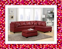 Red Leather Sectional New Hot Set Silver Spring, 20906