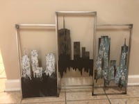 Abstract Metal Cityscape Picture Neptune, 07753