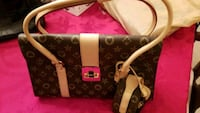 brown and beige leather handbag Vancouver, 98683