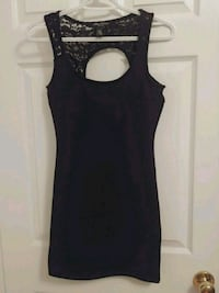 Size S - Streetwear black top lace dress