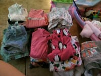 80 piece lot of baby girl clothes 3-6 and 6-9  Stockton, 95203
