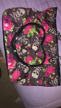 black and multicolored floral Vera Bradley backpack 26 km