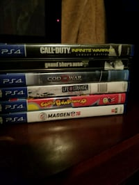 assorted-title Sony PS4 game case lot Greeley