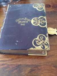 Old leather Bible From the late 1800s
