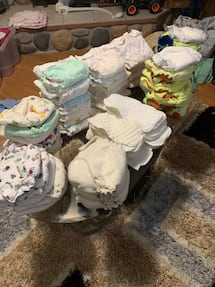 56 cloth diapers etc