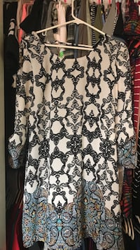 women's grey and black floral long-sleeved blouse Ceres, 95307