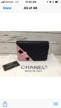 black and white Chanel leather wristlet Los Angeles, 91324