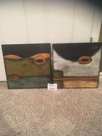 two black wooden abstract painting Lethbridge, T1K 6M3