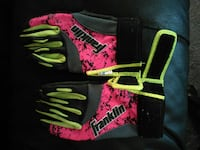 red-and-green Franlin gloves