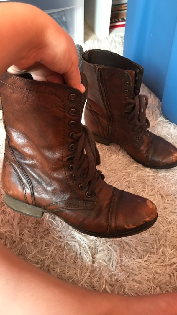 Distressed Steve Madden Combat Boots