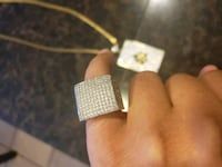 Size 8 iced out ring  2063 mi