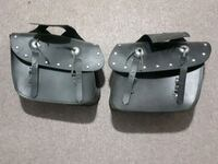 Two black leather motorcyle saddle bags Gatineau, J8M