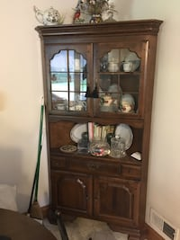 brown wooden framed glass display cabinet Baltimore, 21234