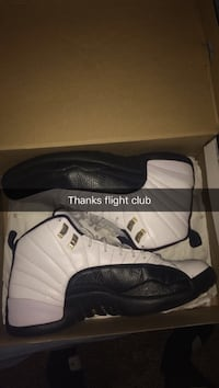 Black-and-white air jordan 12 shoes size 12 Trent Woods, 28562
