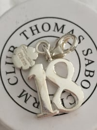Authentic Thomas Sabo Sterling Silver Lucky 18 Charm null
