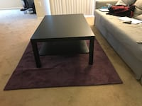 rectangular black wooden coffee table Fairfax, 22030