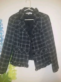 black and white plaid button-up jacket Bangor, 49013