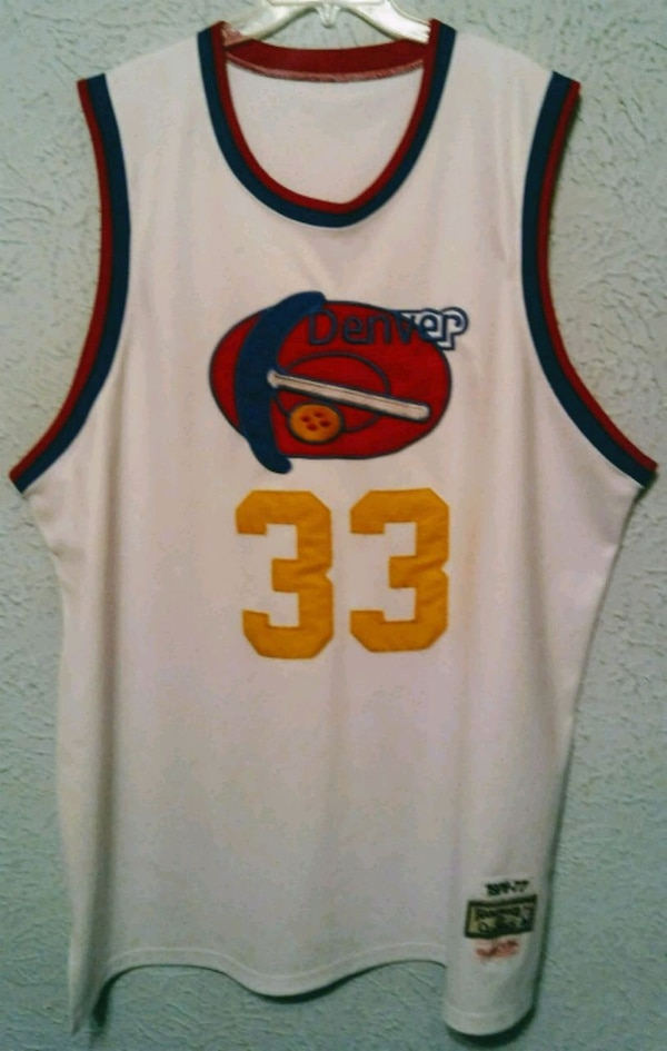 separation shoes bc05f e2696 Denver Nuggets Throwback Jersey